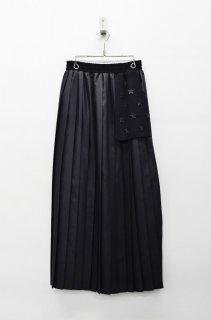 bedsidedrama 星条旗プリーツサーキュラースカート - BLACK