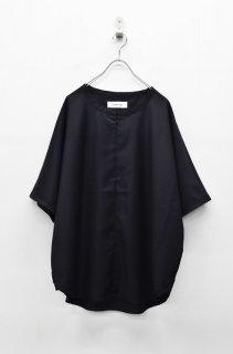 prasthana slick shirt -  BLACK