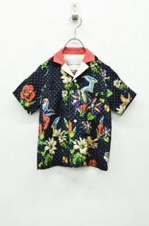Luciole_jean pierre <キッズ>ALOHA SHIRTS - BLACK
