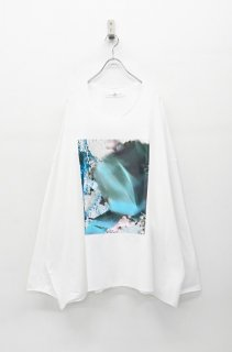 BALMUNG プリントビッグTシャツ 長袖 - 塗替 WHITE