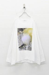 BALMUNG プリントビッグTシャツ 長袖 - 隙間 WHITE