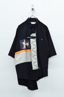 elephant TRIBAL fabrics × LJP エクスチェンジシャツ - BLACK