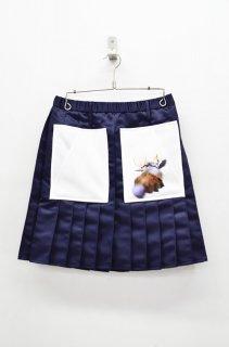 BALMUNG プリーツスカート - ネイビー