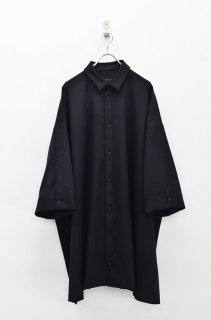 My Beautiful Landlet ツイルビッグシャツドレス - BLACK