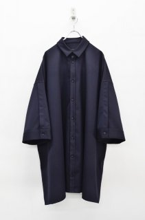 My Beautiful Landlet ツイルビッグシャツドレス - NAVY