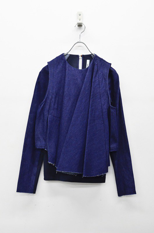 ohta denim layer tops