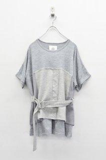 bedsidedrama コルセットTシャツ - GREY