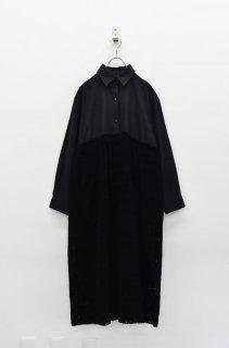 bedsidedrama 夜会のシャツドレス - BLACK