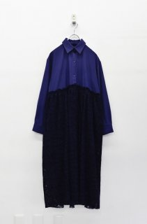 bedsidedrama 夜会のシャツドレス - NAVY