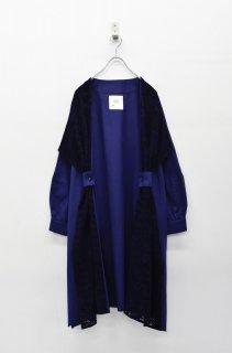 bedsidedrama カーテンワイドドレスシャツ - NAVY