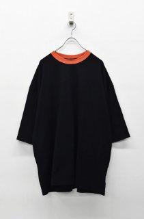 yoko sakamoto BIG T-SHIRT - BLACK