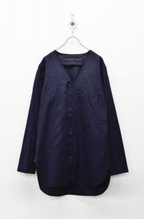 My Beautiful Landlet フランネルVネックシャツ - NAVY