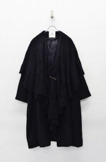 bedsidedrama グランマズケープコート - BLACK