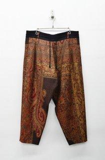 YANTOR Paisley Jacquard Wool Himo Psnts