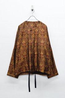 YANTOR Peacock Jacquard Silk Nocollar Jacket
