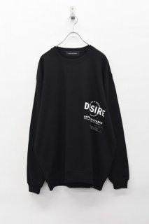 ALTER DE SATISFY プリントスウェットPO / B - BLACK