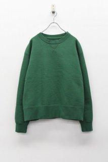 yoko sakamoto CREW NECK SWEATER - GREEN