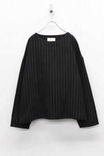 yoko sakamoto GAUZE PULLOVER - BLACK