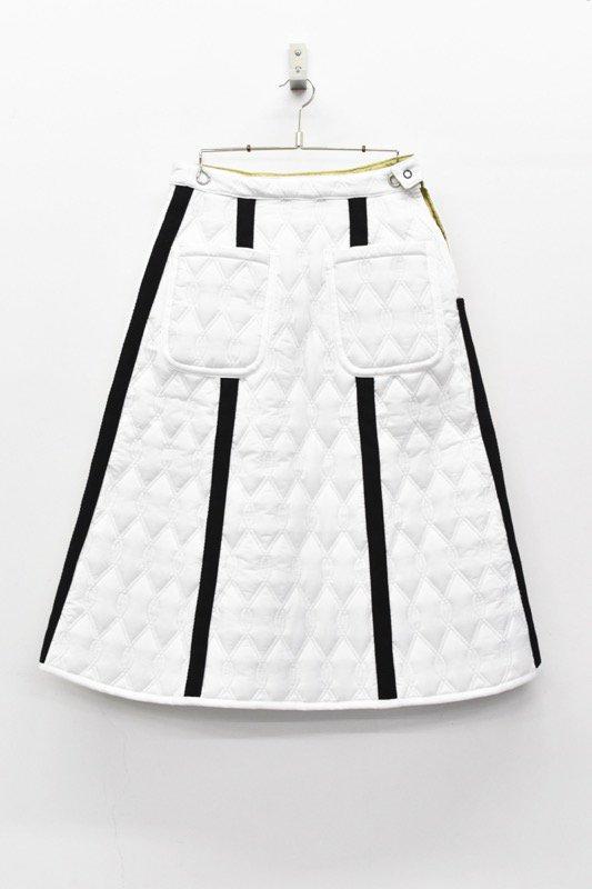NON TOKYO リバーシブルキルティングロングスカート - WHITE / BEIGE