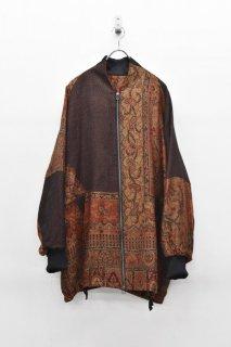 YANTOR Paisley Jacquard Wool Wide Blouson