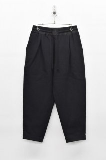 YANTOR Cotton Linen Wool Taperd Gom Pants - BLACK
