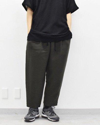 YANTOR Cotton Linen Wool Taperd Gom Pants - KHAKI