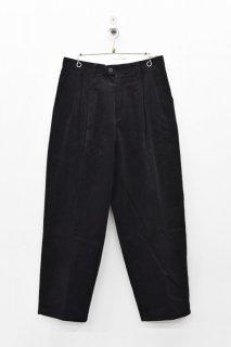 yoko sakamoto CLASSIC WIDE SLACKS PANTS - BLACK
