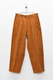 yoko sakamoto CLASSIC WIDE SLACKS PANTS - BROWN