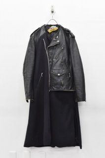 YEAH RIGHT!!  RIDERS LONG COAT/ SCHOTT