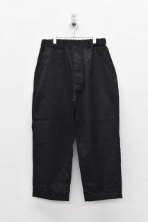 yoko sakamoto / DOUBLE KNEE PANTS - BLACK