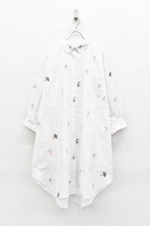 bedsidedrama ワンダーランドマキシシャツ - WHITE