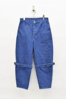 bedsidedrama ボンデージワイドジーンズ - BLUE