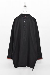 YANTOR / Salvage Khadi Cotton Long Shirts - BLACK