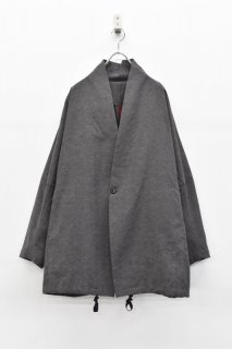 YANTOR / Linen Cotton Fall Jacket - CHARCOAL