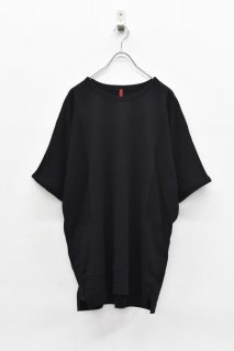 YANTOR / Hige Gauge Cotton Knit Cut&Sewn - BLACK