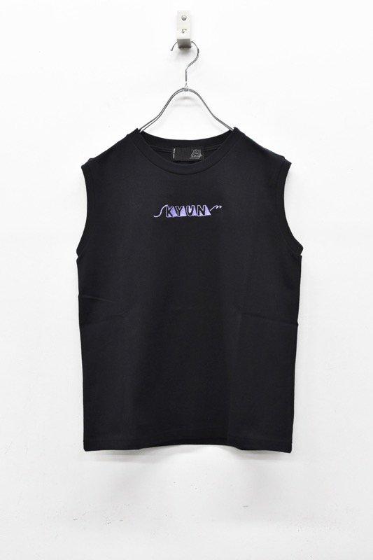 youmolaugh / 刺繍 macho TOPS - BLACK