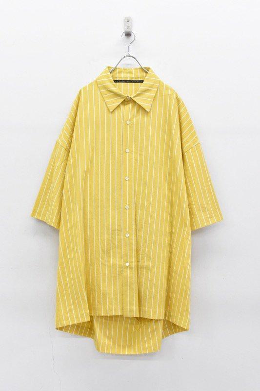 My Beautiful Landlet / ピンストライプビッグシャツ - YELLOW