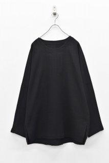 YANTOR / Amunzen Cotton Long Pullover - BLACK