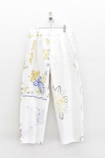 YEAH RIGHT!! / TABLE CLOTH WIDE PANTS - A