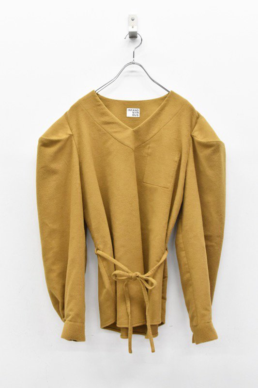 INFANONYMOUS / Brushed Cotton Pullover - BEIGE