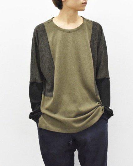 YANTOR / 12G Cotton Skin Knit Pullover - KHAKI