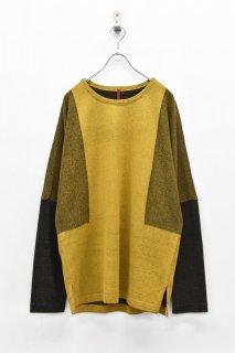 YANTOR / 12G Cotton Skin Knit Pullover - MUSTARD