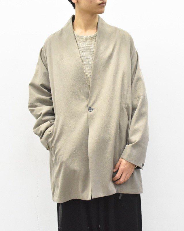 YANTOR / Wash Wool Fall Jacket - BEIGE