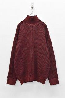 YANTOR / 7G Wool Turtle Wide Knit  - RED