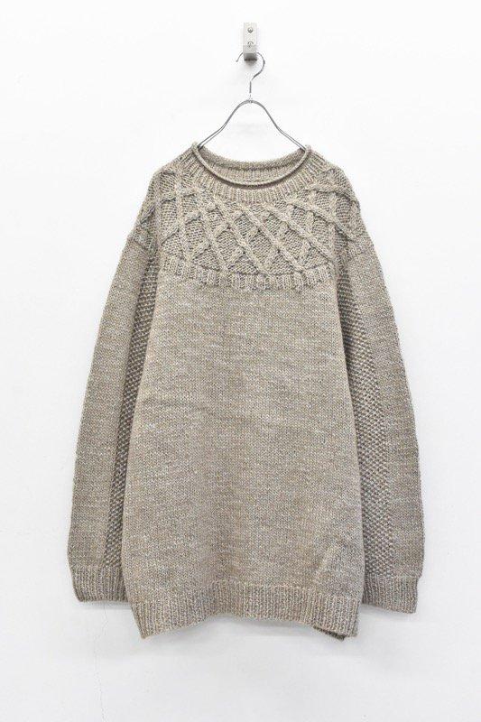 FOOF / tange sweater - GREY BEIGE