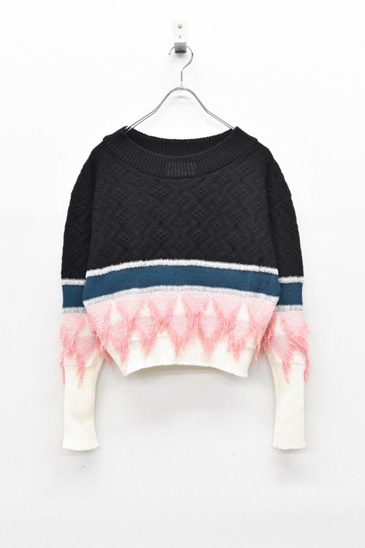 YUKI SHIMANE / Canonbury Sweater - BLACK