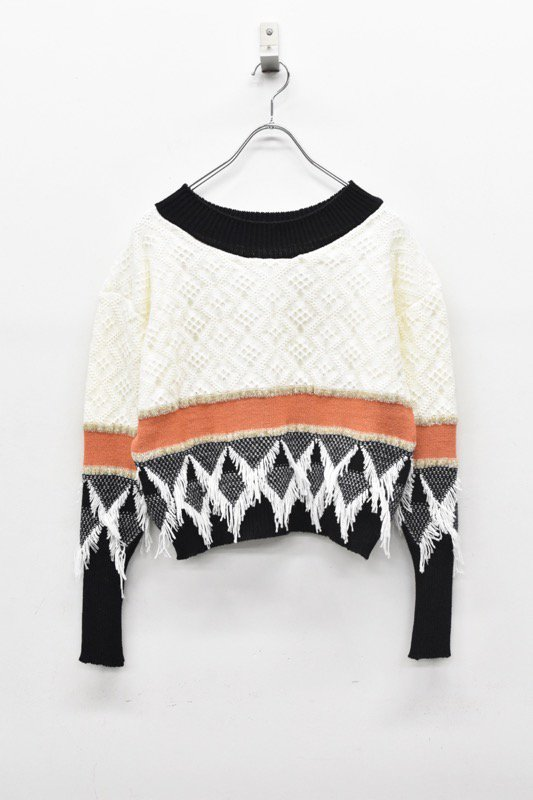 YUKI SHIMANE / Canonbury Sweater - WHITE