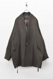 YANTOR / Cotton Linen Wool Fall Jacket - CHARCOAL