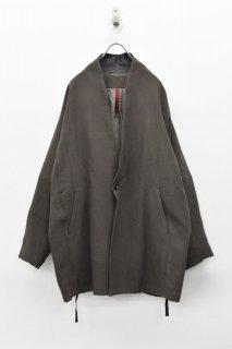 YANTOR / Cotton Linen Wool Fall Jacket - CHARCOAL