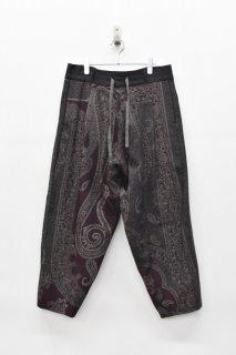 YANTOR / Paisley Jacquard Wool Himo Psnts - PURPLE